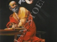 Sfantul Matei si Ingerul - Caravaggio - 59x96cm